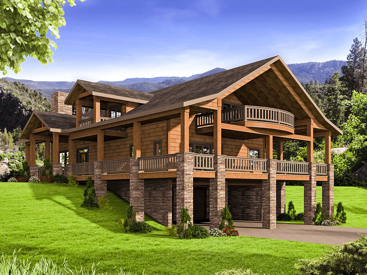 Mountain House Plan With Huge Wrap Around Porch 35544gh Architectural Designs House Plans