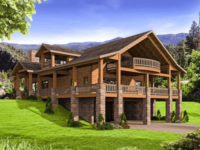 Mountain House Plan With Huge Wrap Around Porch 35544gh