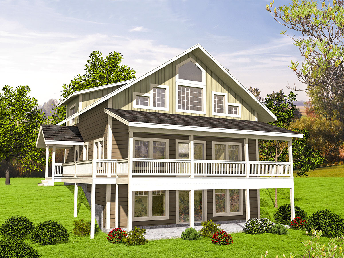 Northwest House Plan With Three Levels 35557gh