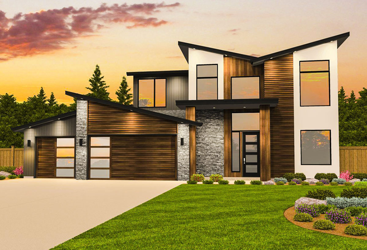 Contemporary house plan with casita 85182ms for Casita plans