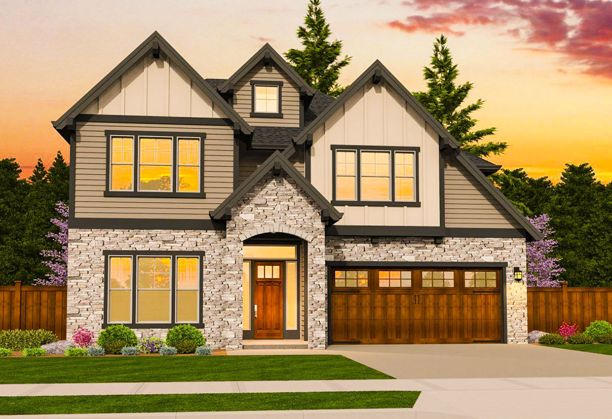 Craftsman with first floor master 85185ms for L shaped craftsman home plans