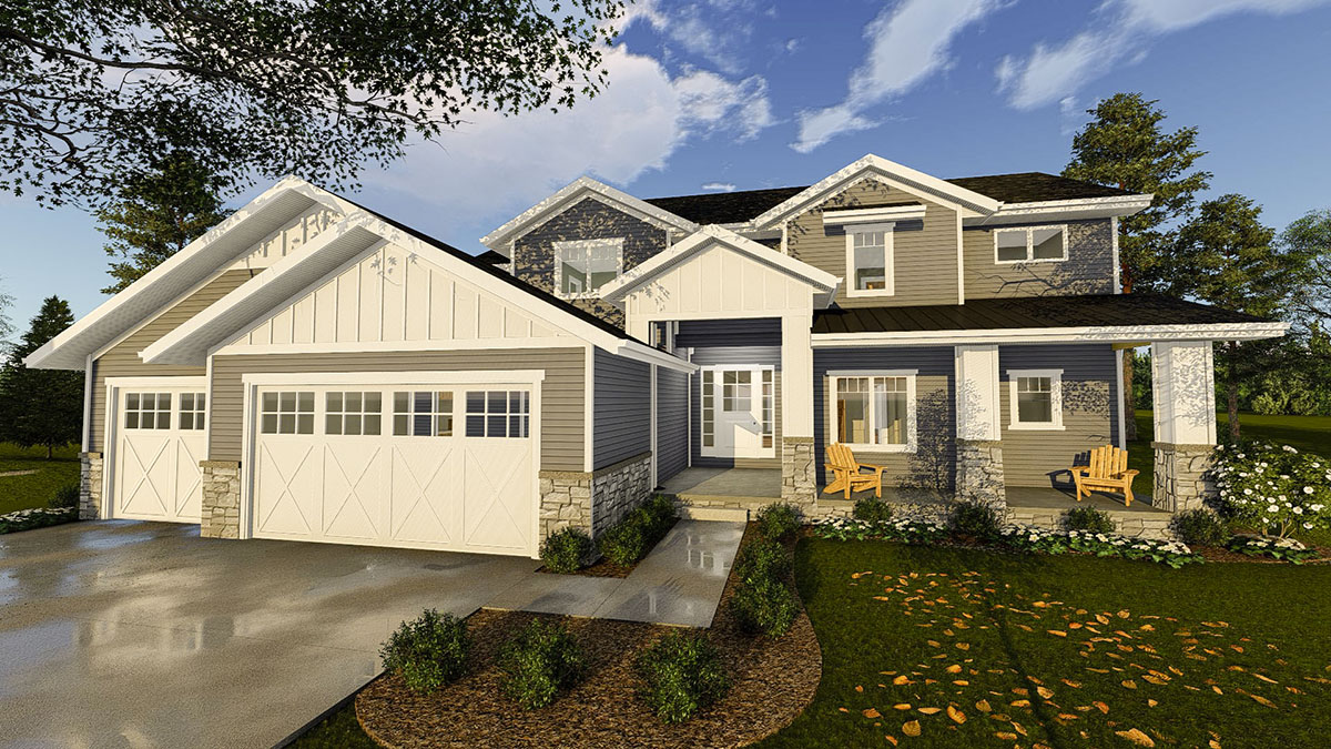 Comfortable Northwest House Plan For Sloping Lot 62669dj