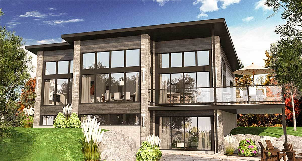 Expandable contemporary house plan 90310pd for Expandable home designs