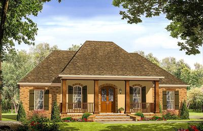 French Country House Plan with 3 Beds and a Flex Room - 51182MM ...
