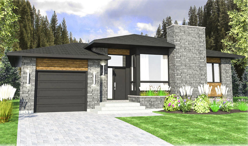 Contemporary Prairie Style House Plan 90306pd