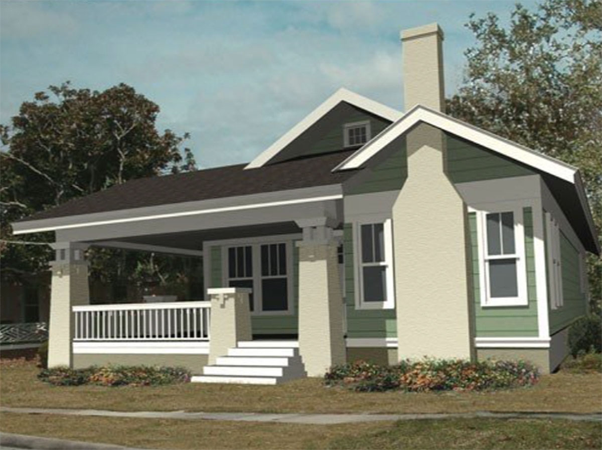 bungalow with wrap around porch 50156ph architectural