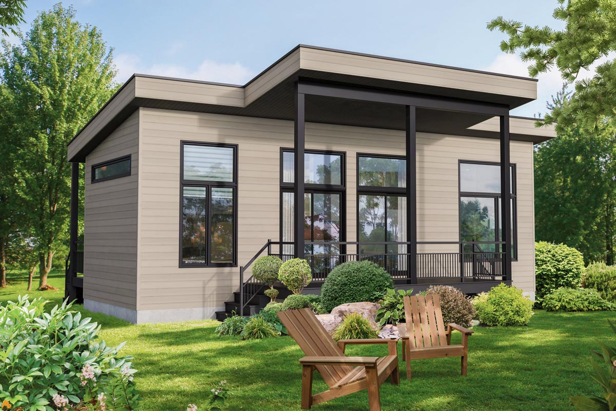 Modern Tiny House Plan - 80902PM | Architectural Designs ...