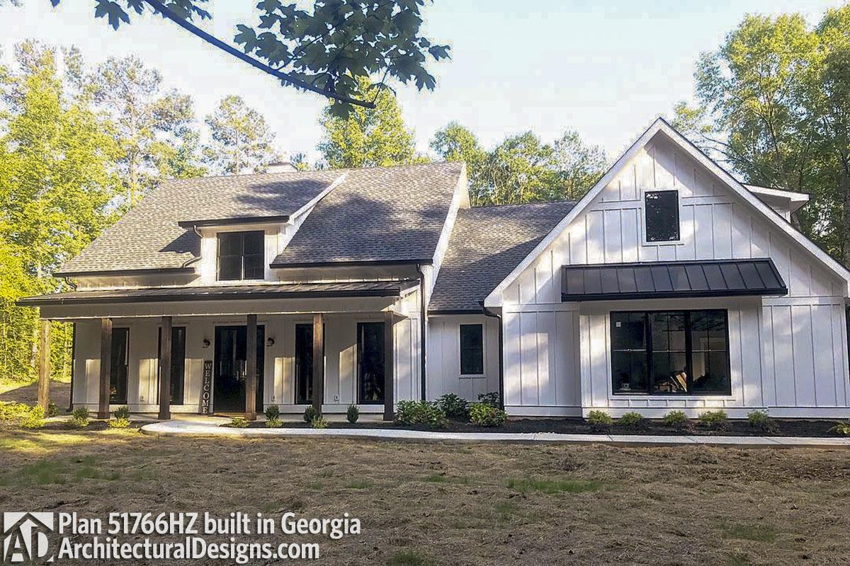 Modern Farmhouse Plan 51766HZ comes to life in Georgia - photo 001