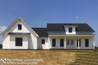 Exclusive Modern Farmhouse Plan 51766HZ comes to life in Kentucky - photo 002