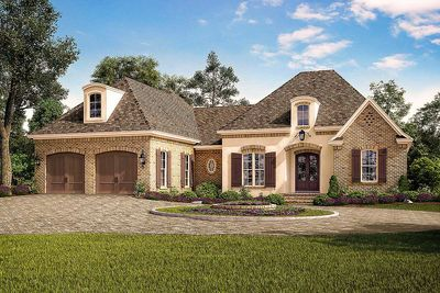Exclusive Acadian French Country House Plan with Vaulted Rear ...