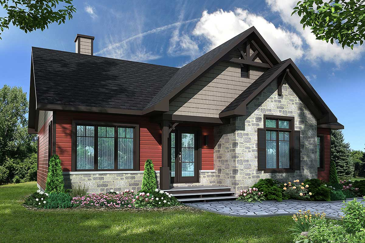 Petite Craftsman with Expansion Possibilities - 22472DR | Architectural Designs - House Plans