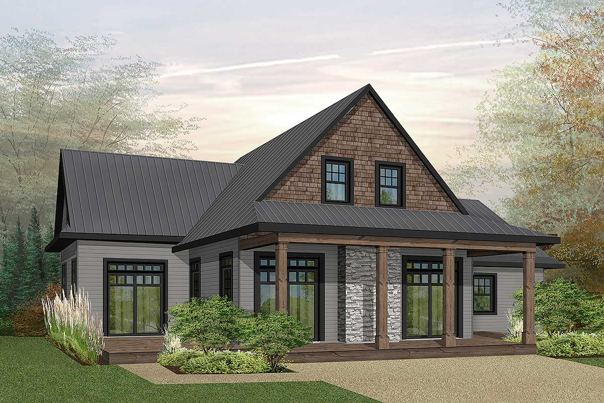 Northwest house plan with first floor master 22473dr for Nw home design
