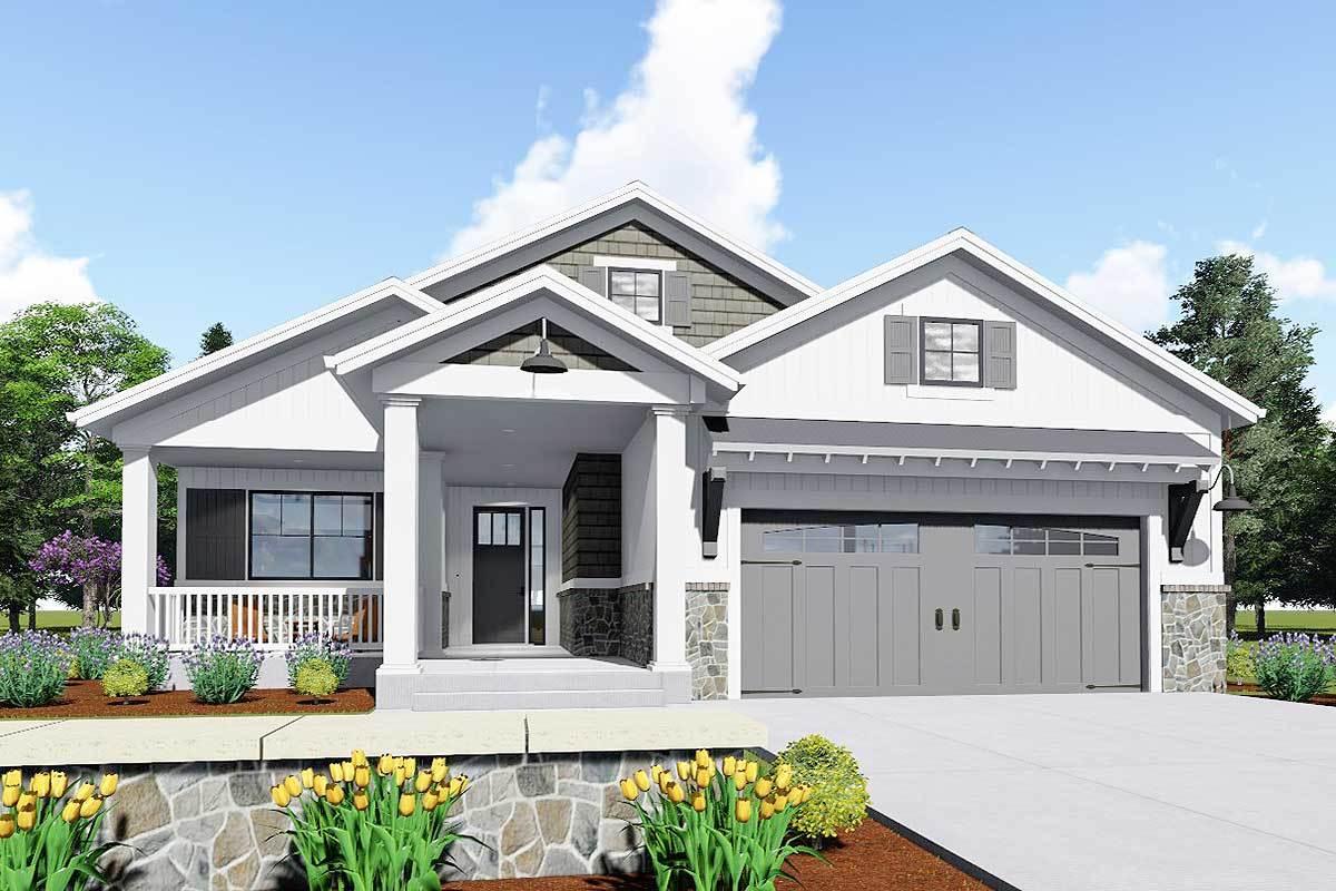 Expandable bungalow house plan 64441sc architectural for Expandable home designs
