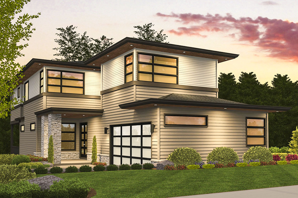 Three level northwest house plan 85190ms architectural for Northwest house designs