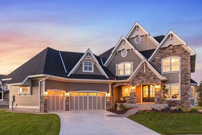 Exciting Craftsman House Plan with Finished Two-Story Sports Court - 73373HS thumb - 01