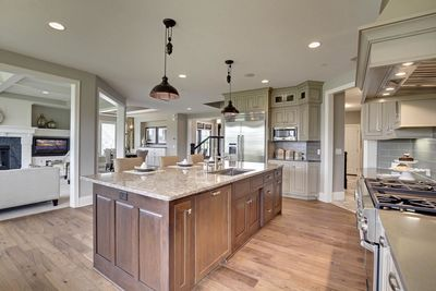 Exciting Craftsman House Plan with Finished Two-Story Sports Court - 73373HS thumb - 45