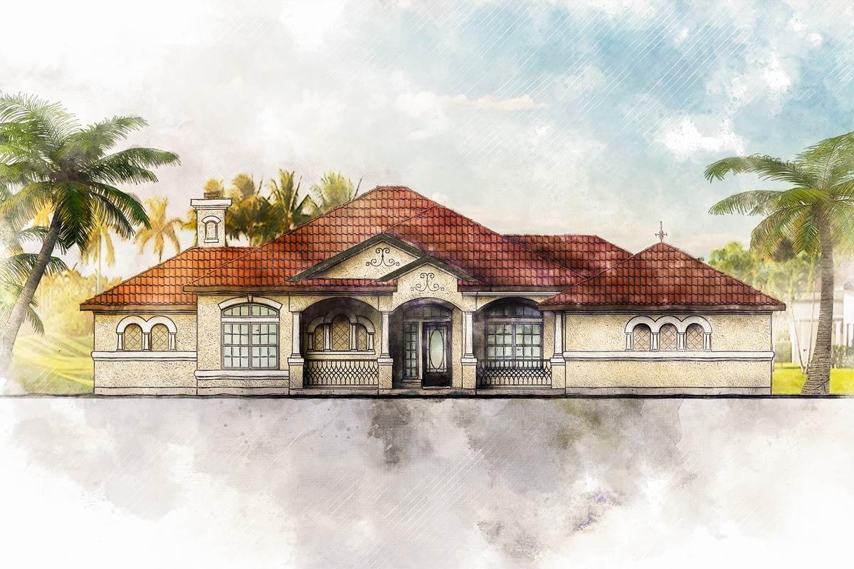 Unique Mediterranean House Plan 28344hj Architectural Designs House Plans