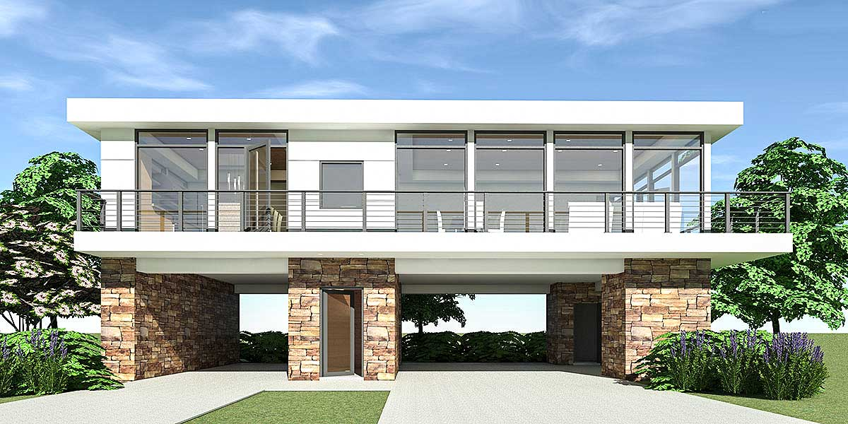 2 bed modern home with carport parking below 44147td - House with a view ...