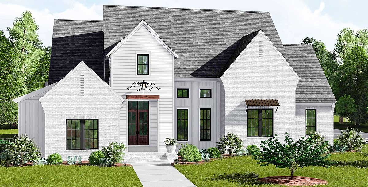 Modern day farmhouse 510011wdy architectural designs for Modern day house designs