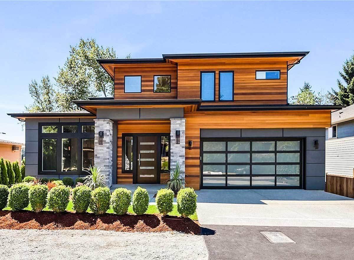 Modern prairie house plan with tri level living 23694jd for Prairie house plans