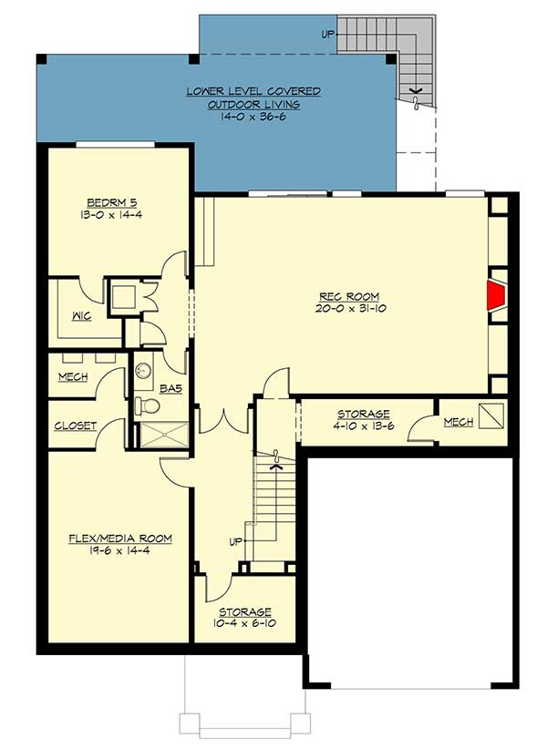 Modern prairie house plan with tri level living 23694jd for Tri level house plans