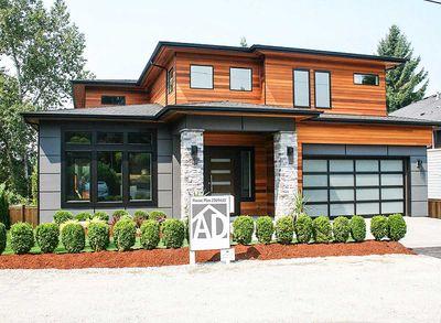 Modern Prairie House Plan With Tri Level Living   23694JD Thumb   04