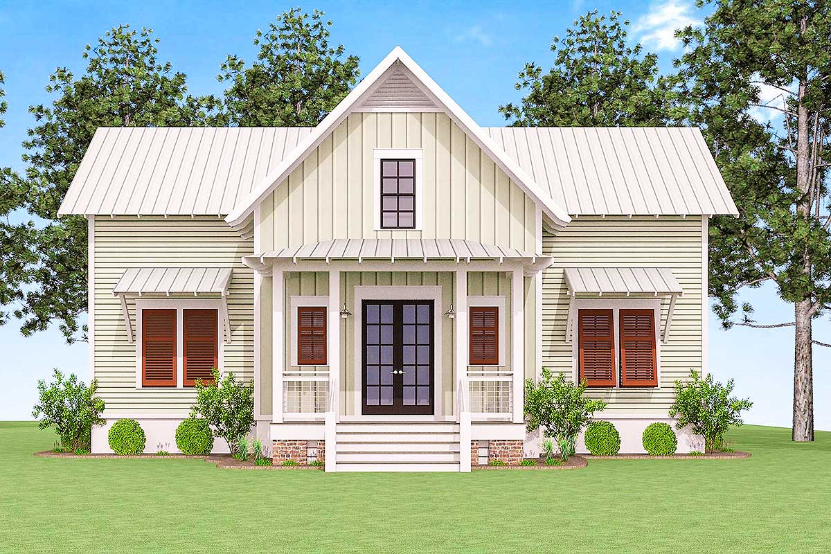 Delightful cottage house plan 130002lls architectural for Cabin house plans with photos