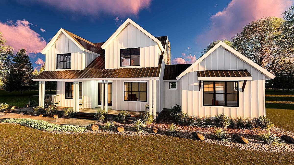 Modern Farmhouse With Master Down And Three Beds Up
