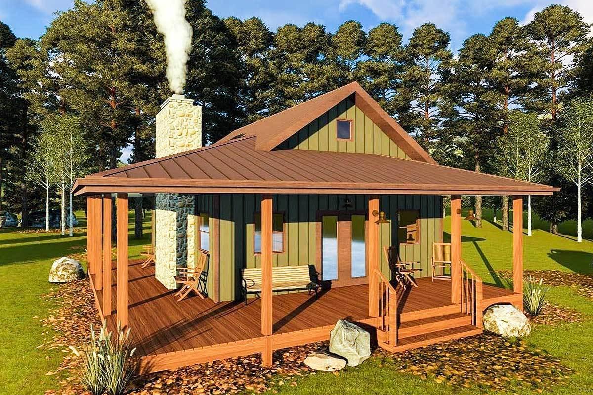Cozy vacation retreat 62697dj architectural designs for Cozy cabin plans
