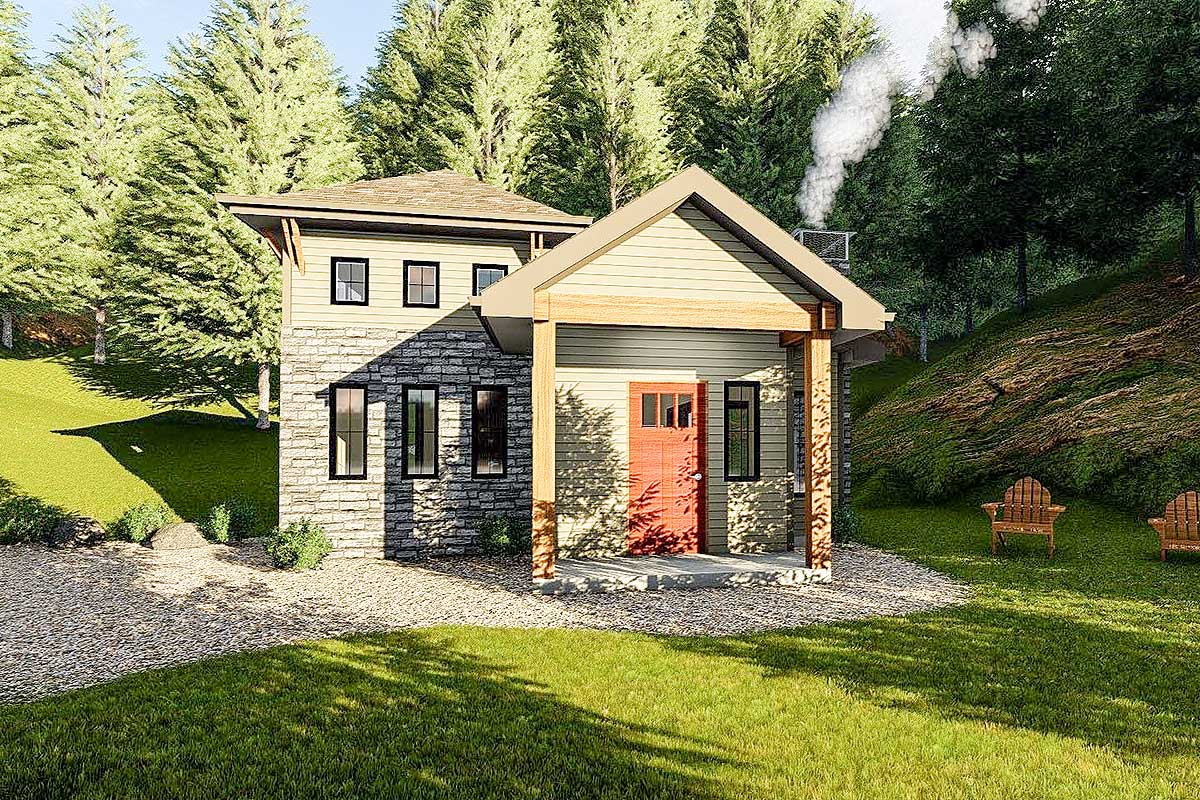 Tiny house or vacation getaway 62705dj architectural for Tiny house vacation home