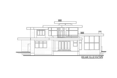Luxury modern house plan with upstairs master retreat for Master retreat floor plans