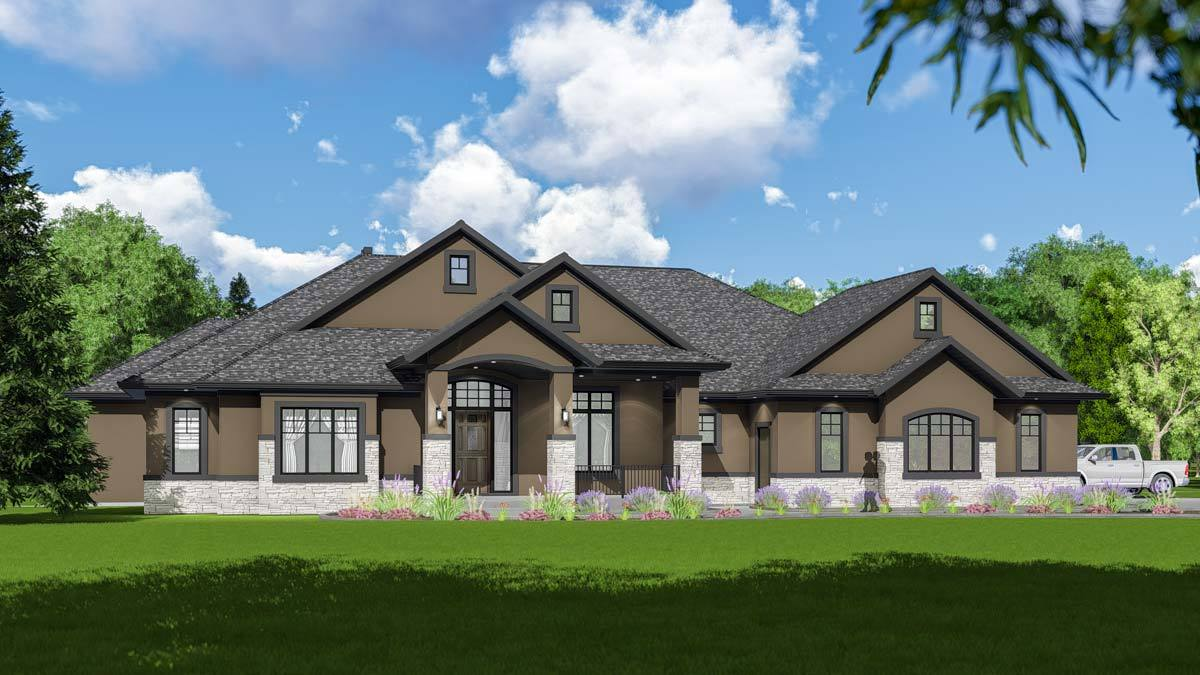 Expandable One Story House Plan With Dramatic Foyer