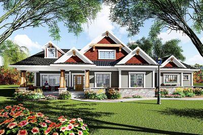 Eye-Catching Craftsman Ranch House Plan - 890050AH | Architectural ...