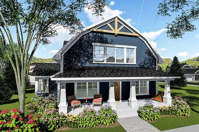 3 Bed House Plan With Gambrel Roof   890051AH Thumb   01