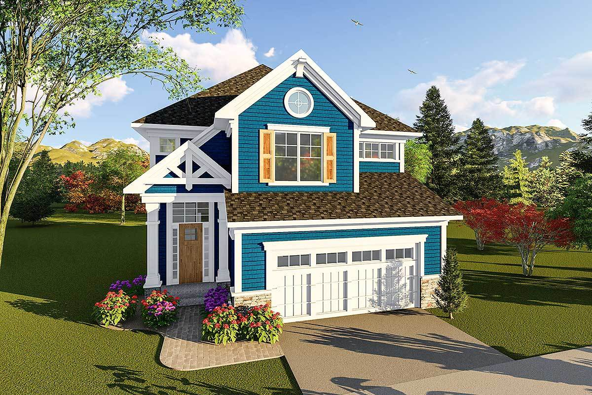 Craftsman two story house plan 890058ah architectural for Two story craftsman