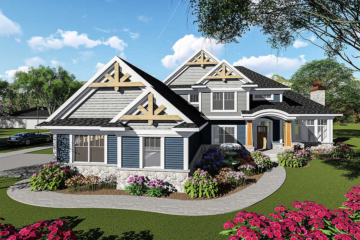 Exciting Craftsman Curb Appeal Architectural