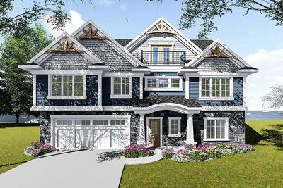 Craftsman House Plan for a View Lot - 890067AH | Architectural ...