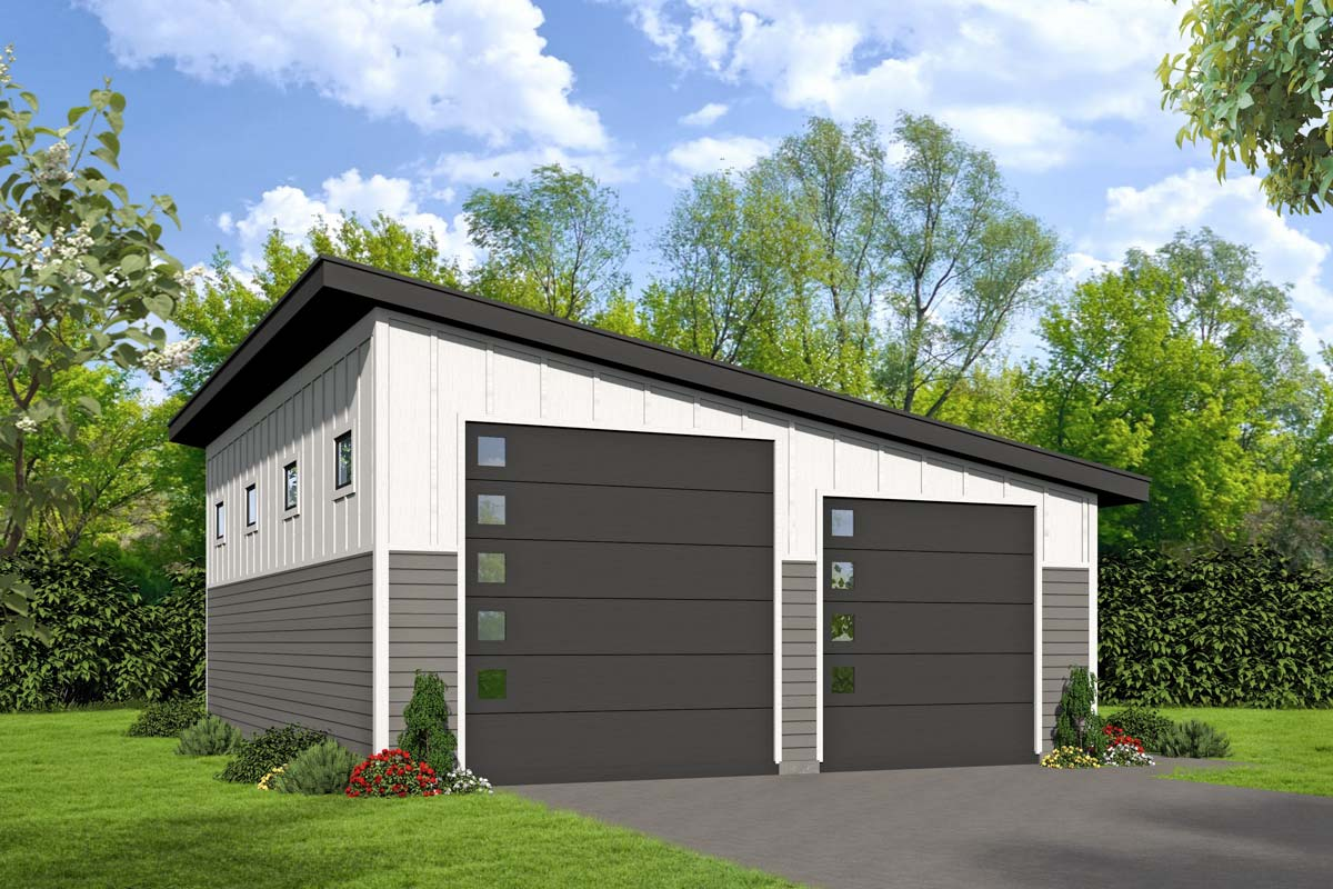 Lift friendly modern rv garage 68500vr architectural for Garage plans with lift