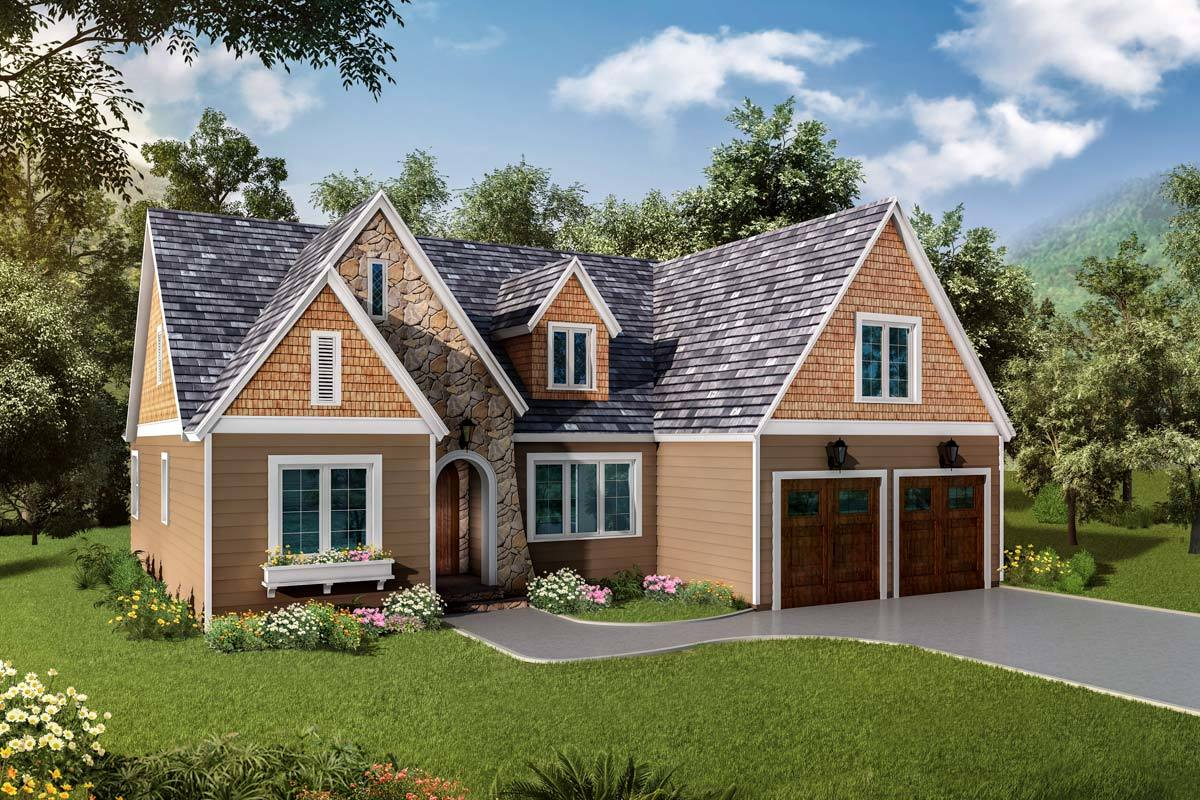 Exclusive One Level Traditional House Plan 17810LV
