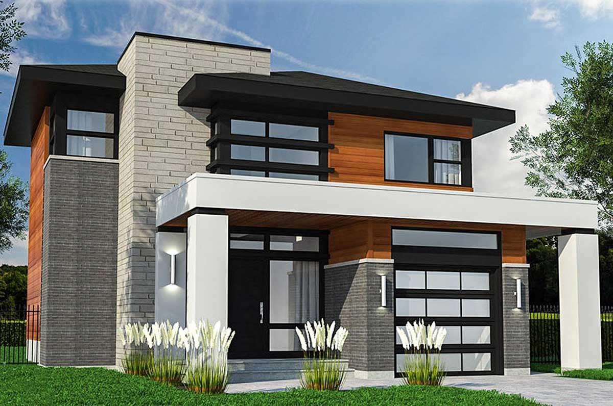 Compact prairie style house plan 90311pd architectural for Prairie house plan
