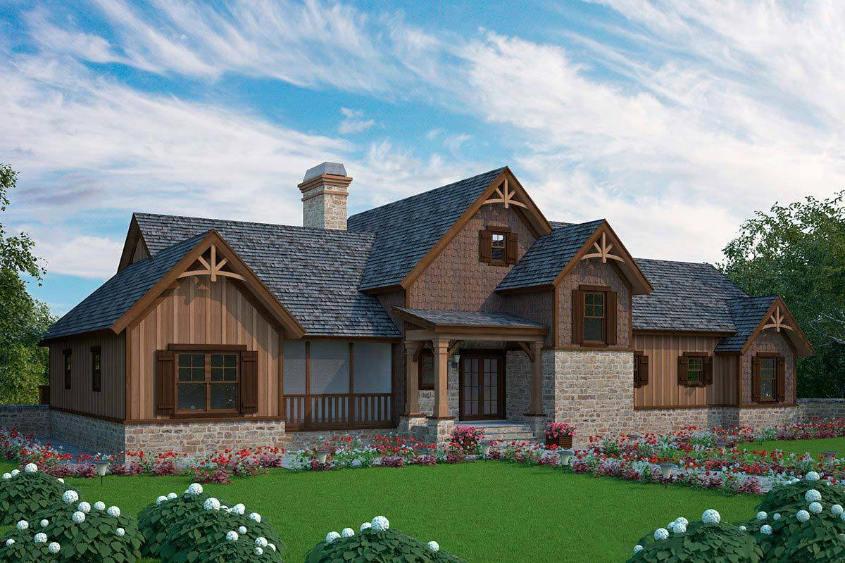 Big dogtrot house plan 92383mx architectural designs for Dogtrot home plans