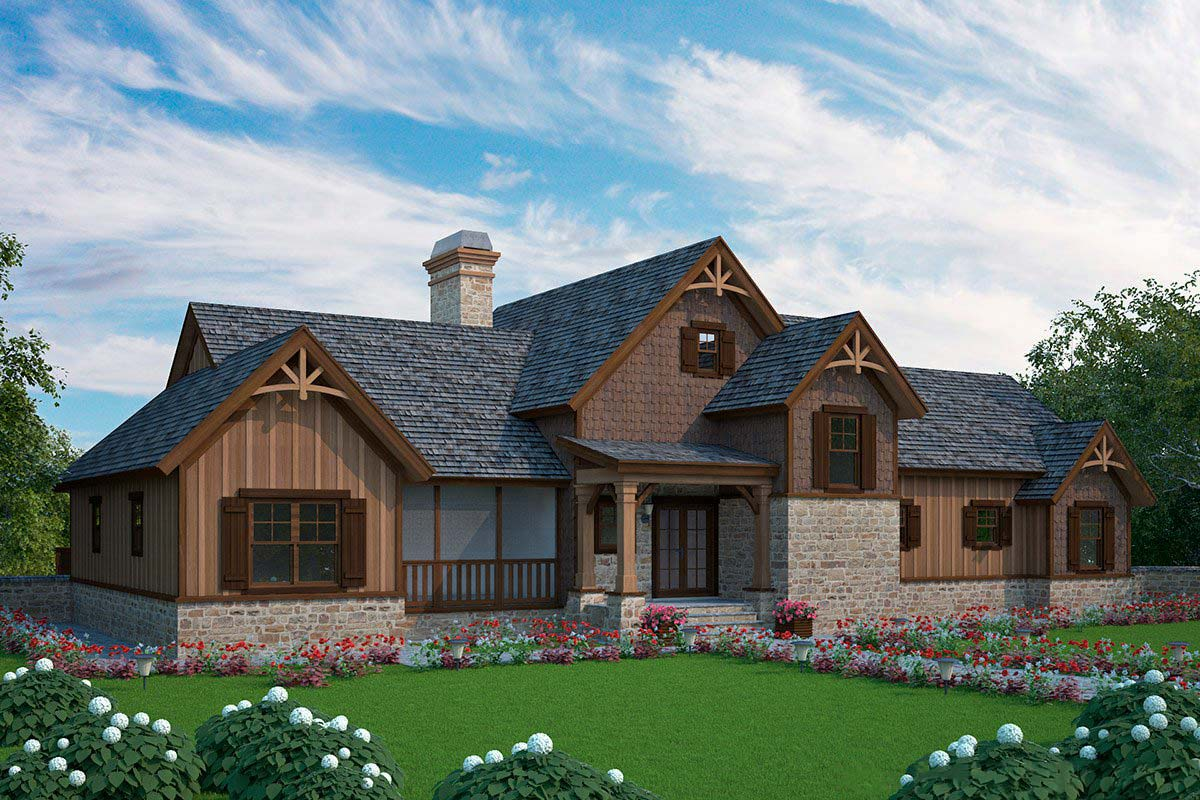 Big Dogtrot House Plan - 92383MX | Architectural Designs ...