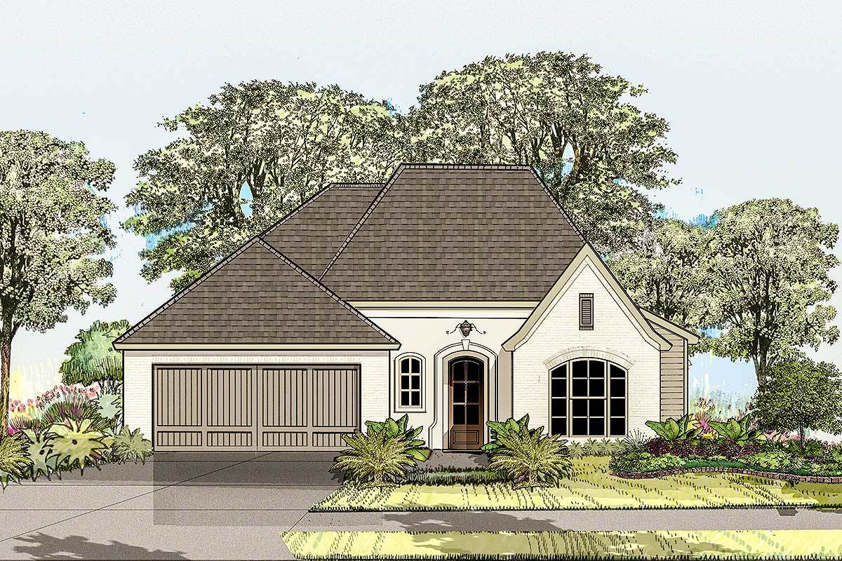 Compact french country house plan 860001mcd for Large french country house plans