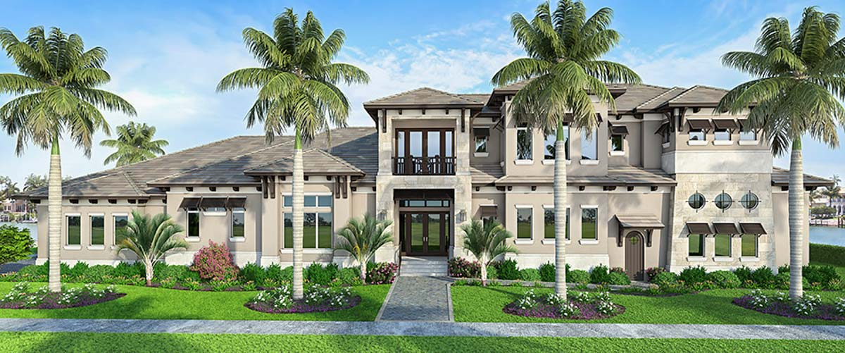Do It Yourself Home Design: 4-Bed House Plan With Water Access Boat Garage