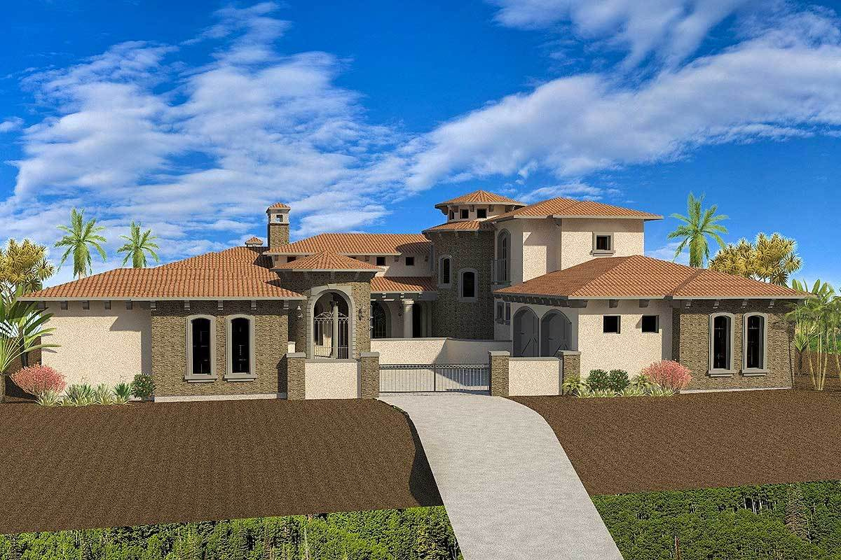 Spacious mediterranean house plan with attached casita for House plans with casitas