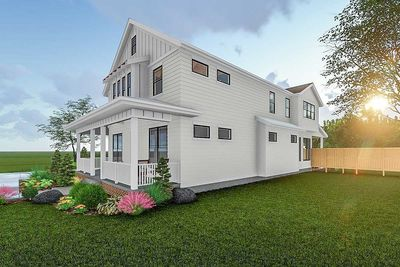 2 story modern farmhouse plan with front porch and rear covered patio 62715dj architectural - Two story house plans with covered patios ...