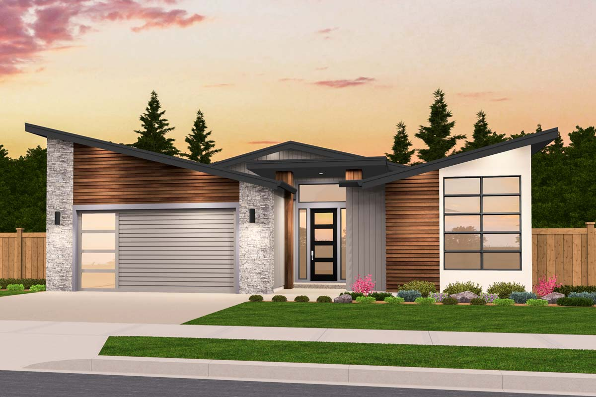 Exclusive One Story Modern House Plan with Open Layout ...