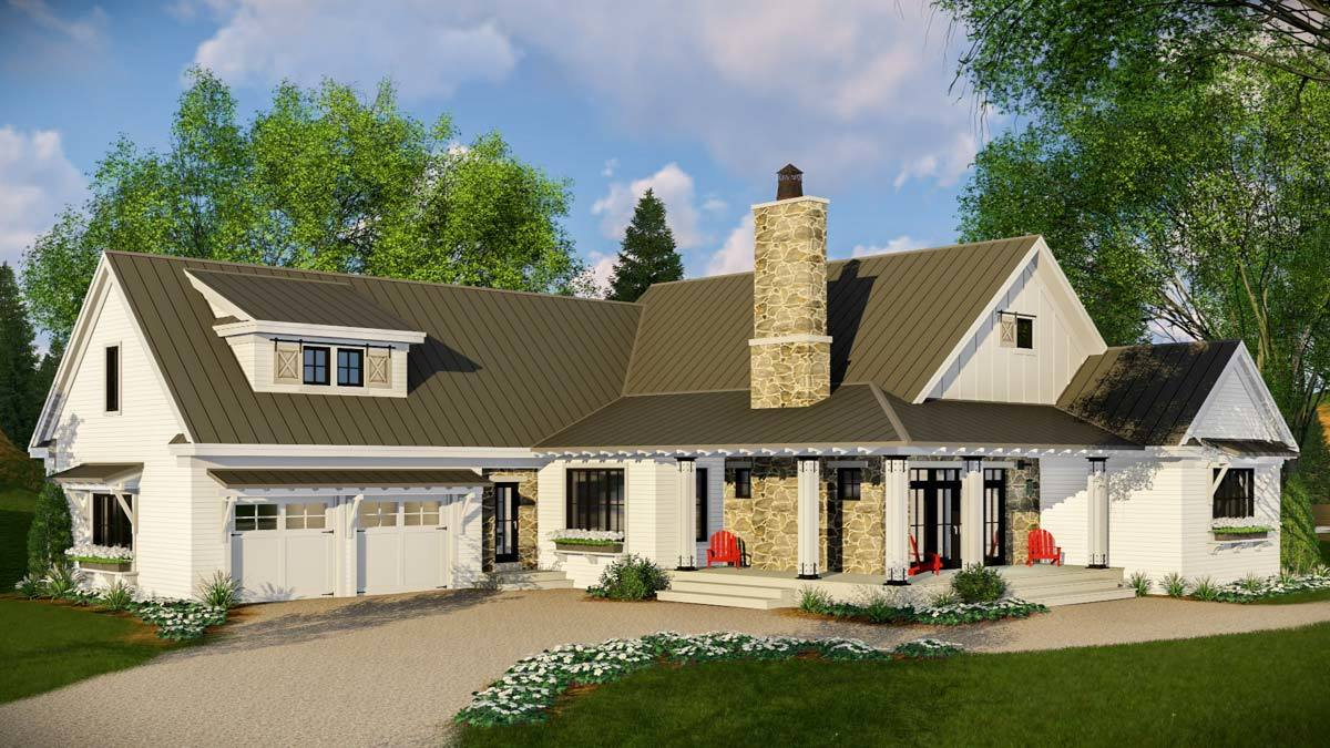 Modern 3 Bed Farmhouse with Vaulted Open Concept