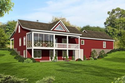 2 Bed Country Ranch Home Plan With Walkout Basement