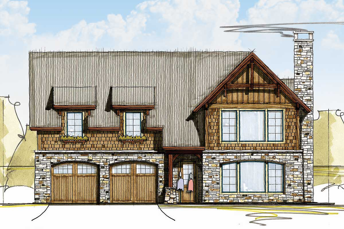 Rugged And Rustic 3 Bed Carriage House Plan 18754ck: 3 bedroom carriage house plans